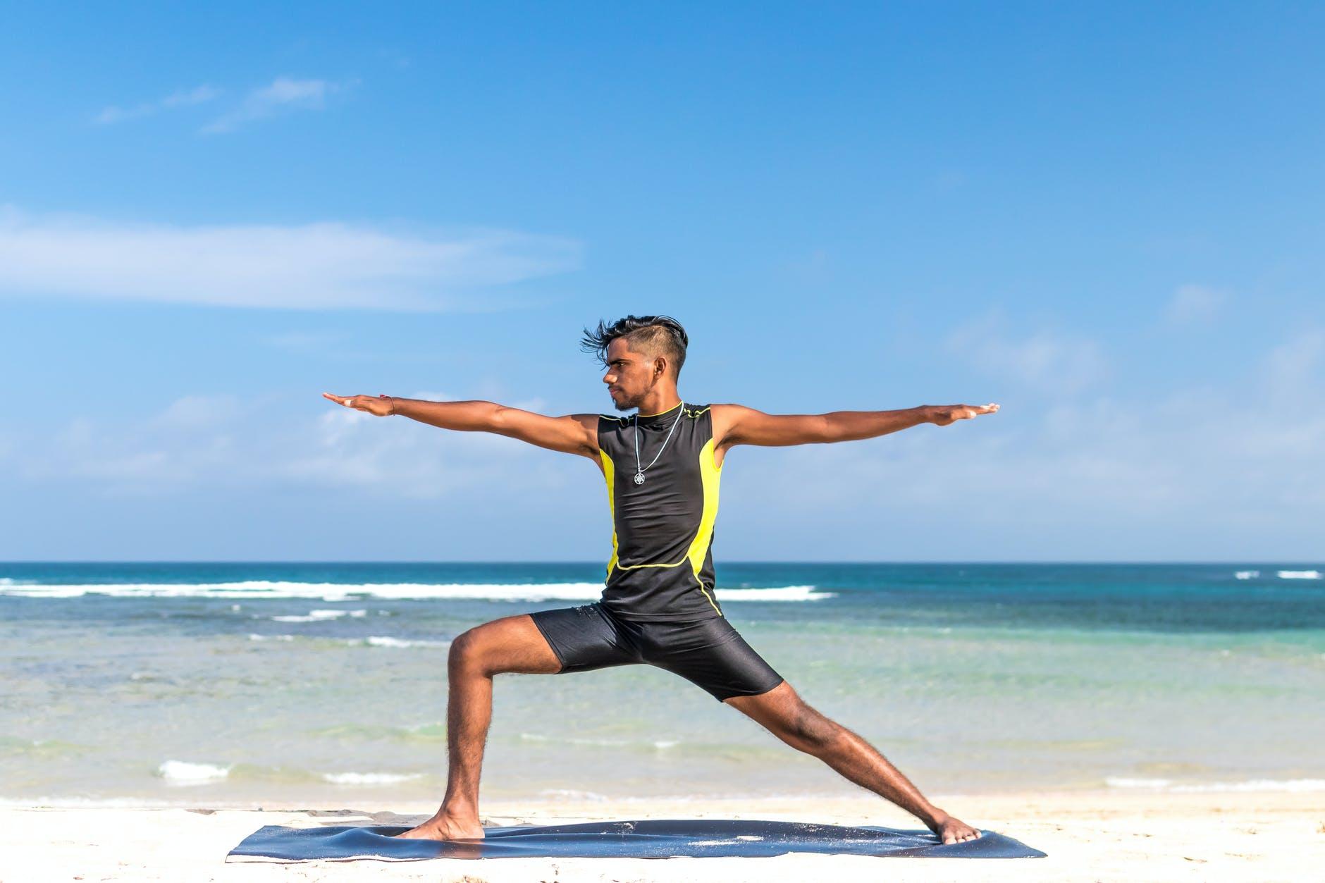 cvičenie na pláži